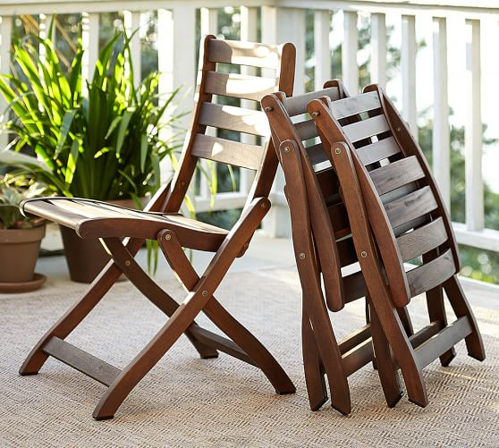 Attractive Folding Dining Chairs Chatham Folding Dining Chairs Dark Honey Pottery Barn