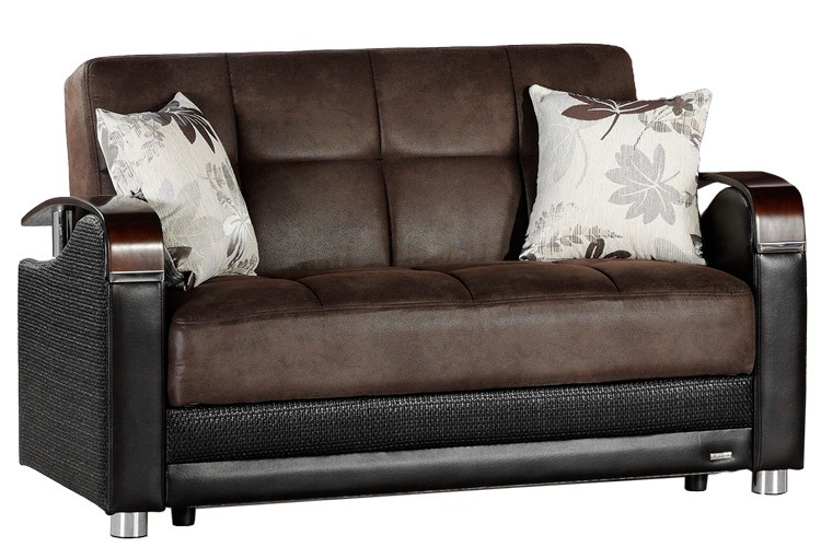 Attractive Futon Loveseat Sofa Bed Loveseat Size Sofabed Sleeper Brown Luna Sofa The Futon Shop