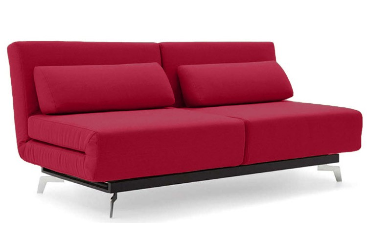 Attractive Futons And Convertible Sofas Red Modern Sleeper Sofa Apollo Red Futon Couch The Futon Shop