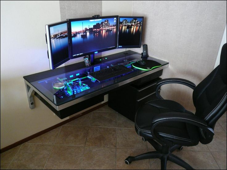 Attractive Gaming Computer Desk For Multiple Monitors 37 Best Workspace Multiple Monitor Images On Pinterest Home