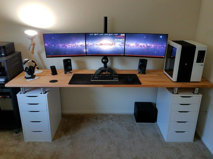 Attractive Gaming Computer Desk Setup Nice Computer Desk Setup Ideas 15 Must See Desk Setup Pins Monitor