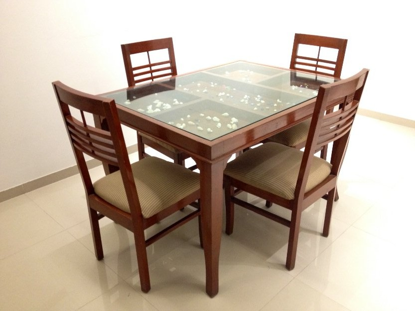 Attractive Glass Top Dining Table Dining Room Glass And Wood Dining Tables On Dining Room Intended