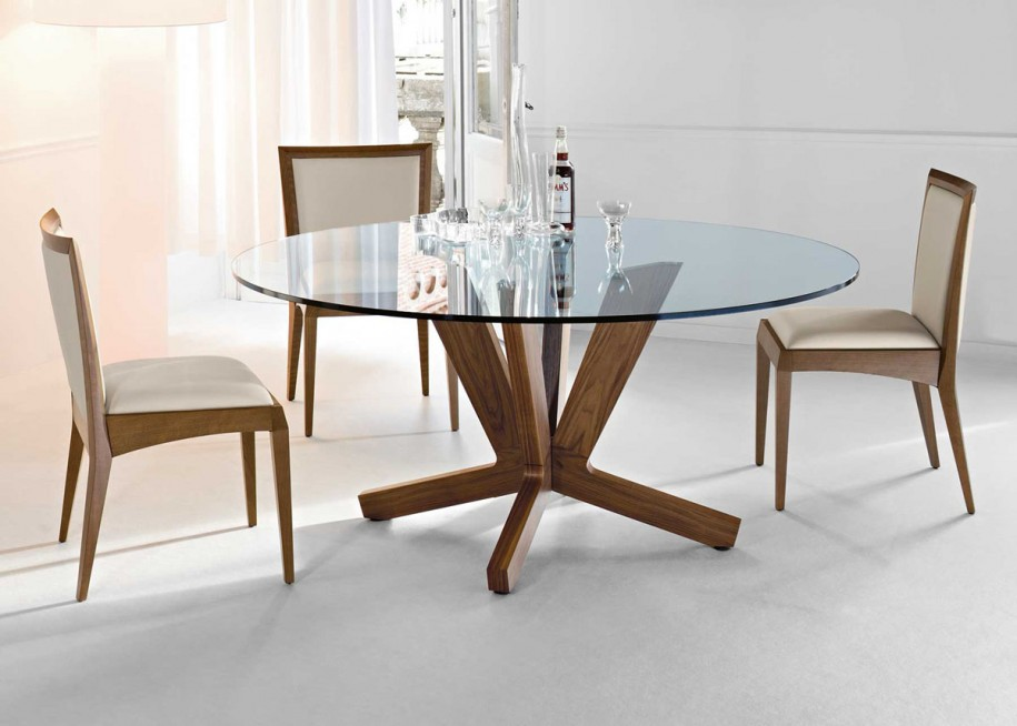 Attractive Glass Top Dining Table Glass Top Round Dining Tables Best Dining Table Ideas Round Glass
