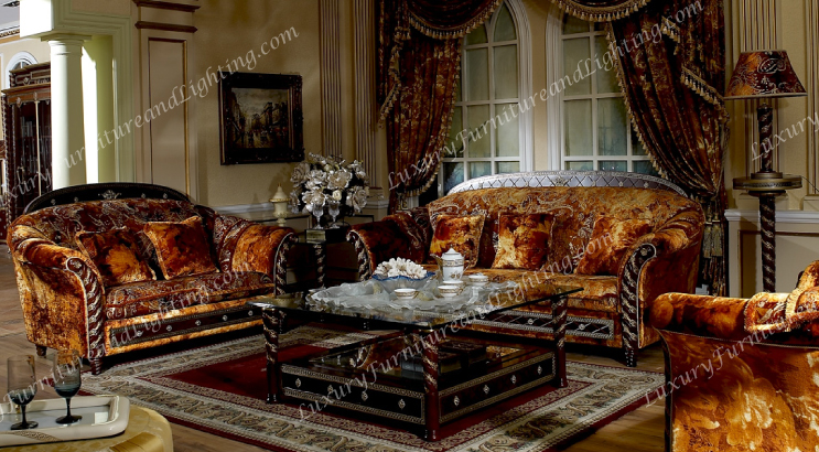 Attractive Gold Living Room Chairs Zeus Walnut Gold Italian Furniture Italian Living Room