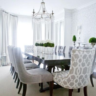 Attractive Gray And White Dining Room Chairs Best 25 Fabric Dining Room Chairs Ideas On Pinterest