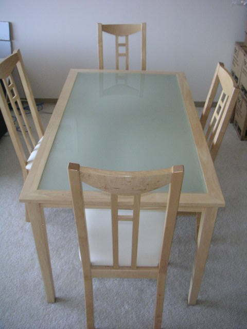 Attractive Ikea Glass Top Dining Table And Chairs The Stuff I Have To Sell