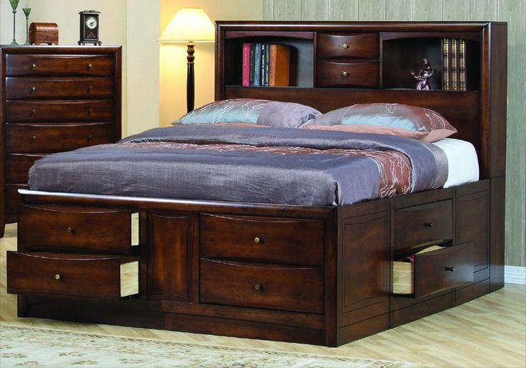 Attractive King Bed Frame With Storage Cool Designs King Bed Frame With Storage Ideas Bedroomi