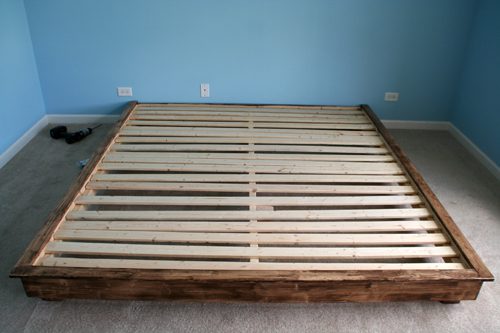 Attractive King Size Bed With Slats Build A King Sized Platform Bed Diywithrick