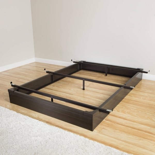 Attractive King Size Metal Bed Base Mantua Java Brown California King Size Metal Bed Base Free