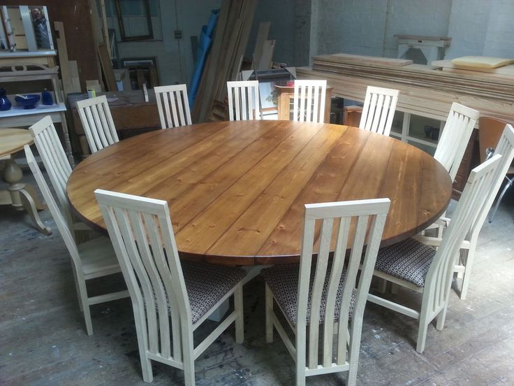 Attractive Large Circular Dining Table 81012 14 Seater Large Round Hoop Base Dining Table Bespoke
