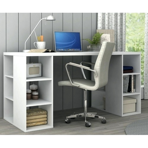 Attractive Large Desk With Storage Desk Computer Desk With Storage Shelves Desktop Storage Shelves