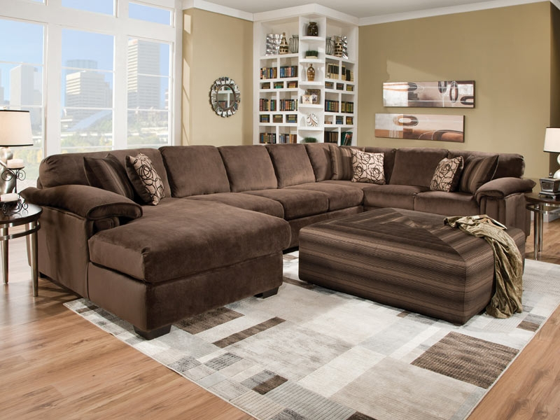 Attractive Large Sectional Sofa With Chaise Lounge Impressive Extra Large Sectional Sofa With Living Room Ottoman