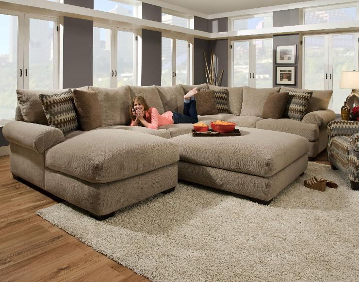 Attractive Large Sectional Sofa With Ottoman Oversized Sectional Sofas Sofas