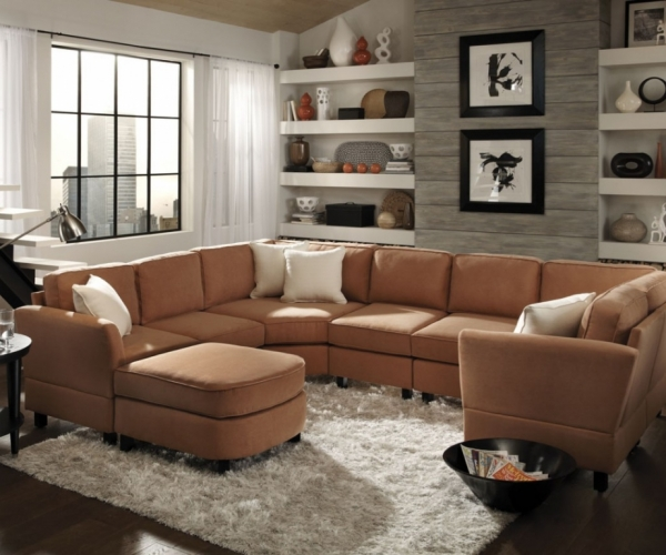 Attractive Large Sofa With Chaise Lounge Splendid Chaise Lounge Pit Sectional U Shaped Couch Chaise Couch