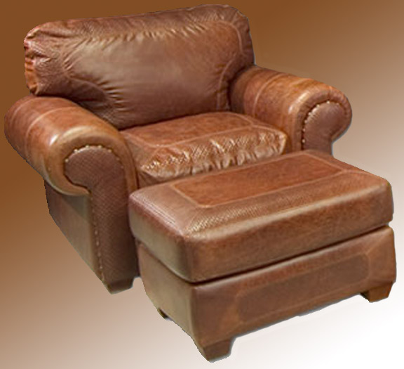 Attractive Leather Chair And Ottoman Stylish Leather Chair And Ottoman Leather Chair Roll Arm Custom