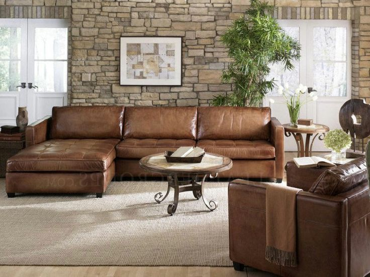 Attractive Leather Sectional Sofa With Chaise Remarkable Full Grain Leather Sectional Sofa With Chic Full Grain