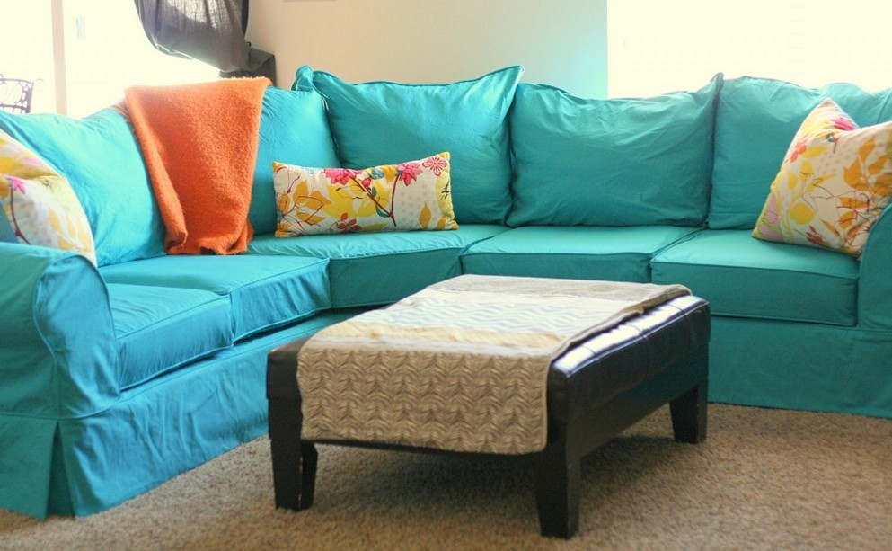 Attractive Light Blue Sectional Sofa Catchy Turquoise Sectional Sofa With Blue Sectional Sofa Apartment