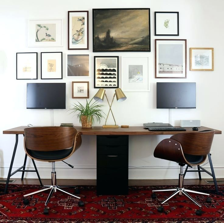 Attractive Long Computer Desk For Two Desk Table Cut Into Two Pieces To Make Long Computer Desk Along