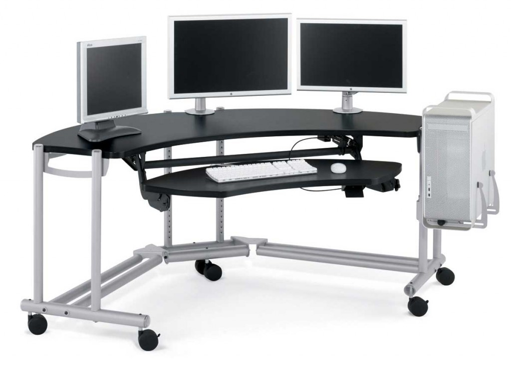 Attractive Metal Computer Desk Metal Computer Desk With Wheels 4 Great Types Of Metal Computer