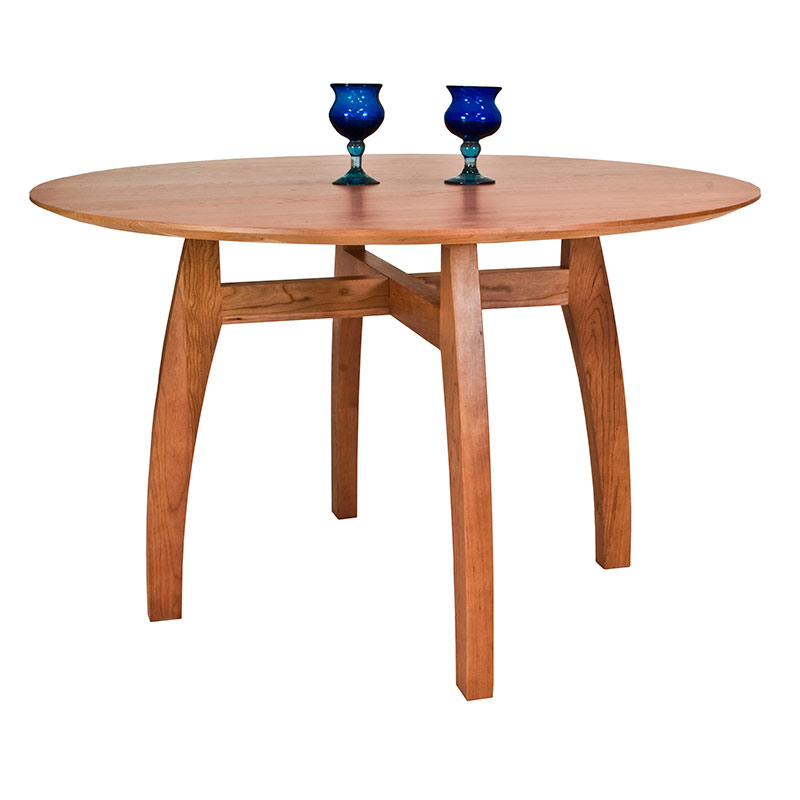 Attractive Modern Pedestal Table Handmade Vermont Modern Pedestal Table Round Solid Wood Table