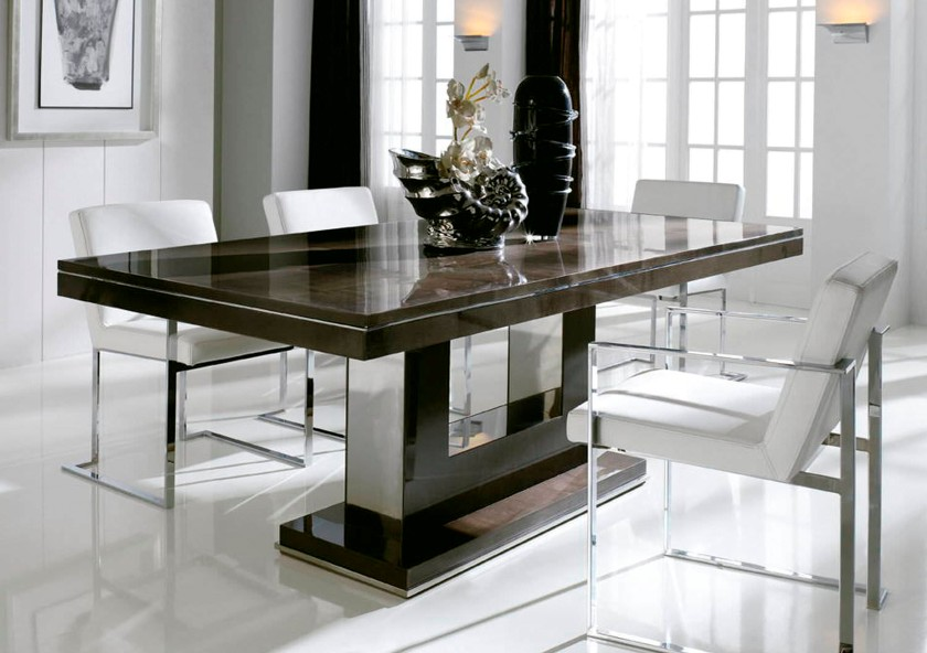 Attractive Modern Rectangular Dining Table Appealing Design For Dining Tables Sets Ideas Modern Dining Tables