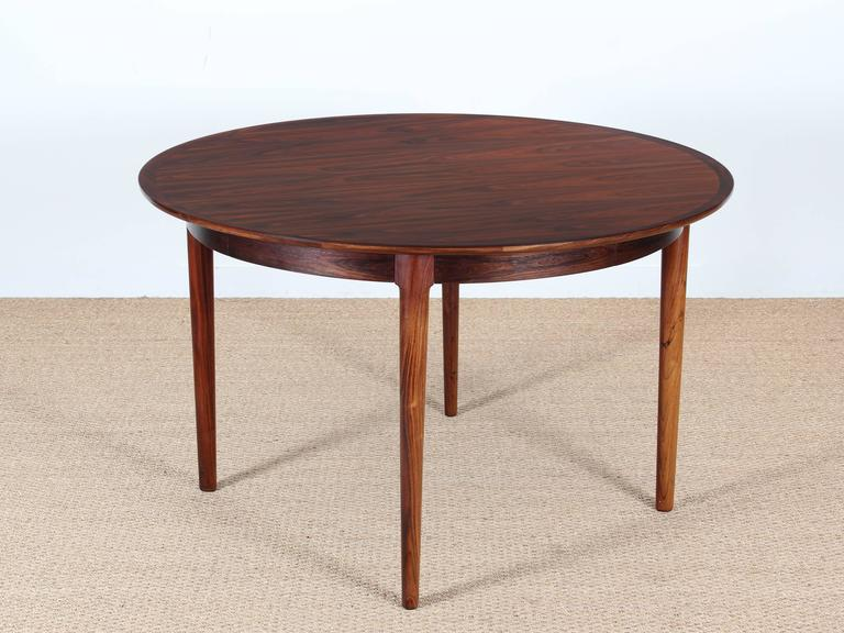 Attractive Modern Round Extendable Dining Table Mid Century Modern Danish Extendable Round Dining Table In Rio