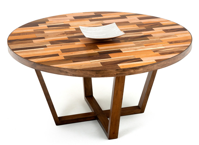 Attractive Modern Round Wood Dining Table Round Contemporary Wood Dining Table Made Reclaimed Woods