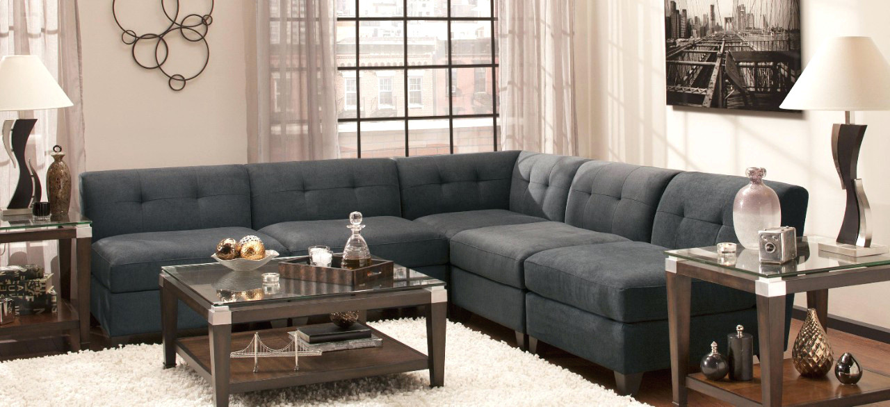Attractive Modular Sectional Sofa Microfiber Sectional Microfiber Modular Sectional Couch This N That Fabric