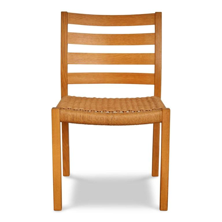 Attractive Oak Dining Chairs Jorgen Moller For Jl Mller Oak Dining Chairs Six At 1stdibs