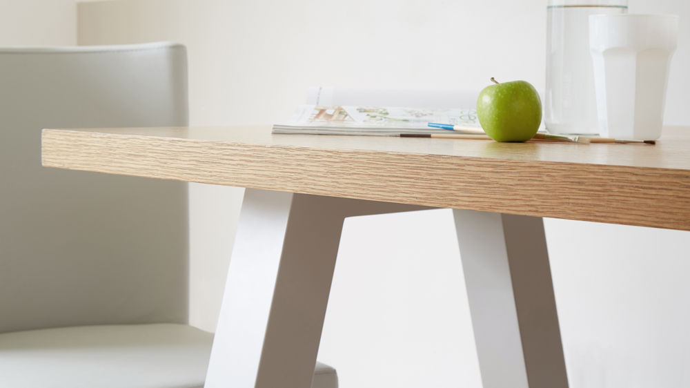 Attractive Oak Dining Table Contemporary 6 Seater Oak And Matt Grey Dining Table Uk