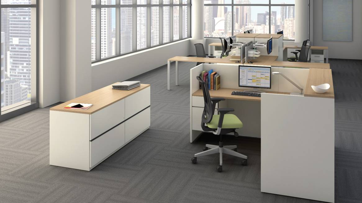 Attractive Office Desk And Storage Payback Office Desks Storage Solutions Steelcase