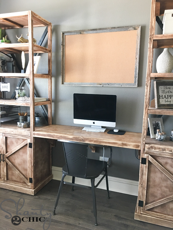 Attractive Office Desk With Shelves Diy Floating Desk For Office Towers Shanty 2 Chic