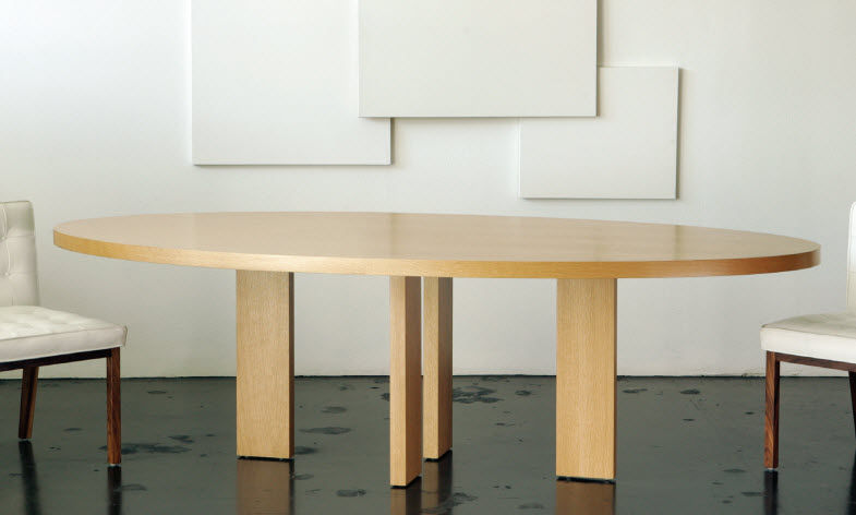Attractive Oval Modern Dining Table Contemporary Dining Table White Oak Oval Alex Vioski
