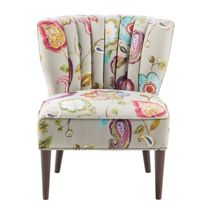 Attractive Patterned Chair And A Half Farmhouse Accent Chairs Birch Lane