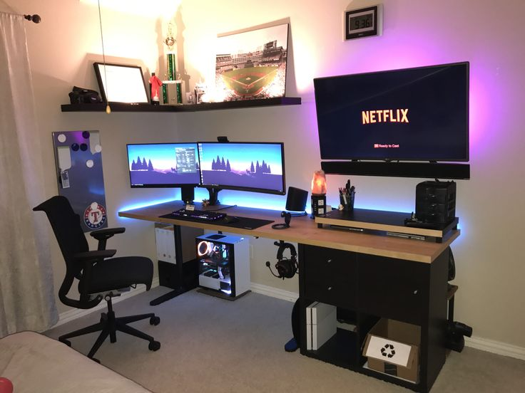 Attractive Pc Desk Setup Best 25 Gaming Desk Ideas On Pinterest Computer Gaming Room