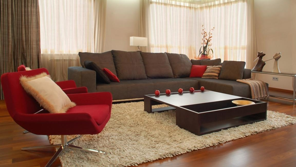 Attractive Red And Grey Accent Chair Living Room With Dark Grey Arm Sofa And Red Modern Accent Chairs