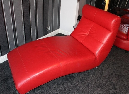 Attractive Red Leather Chaise Lounge Mid Century Chaise Lounge Chair Bankruptcyattorneycoronacom