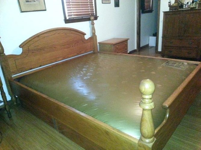 Attractive Regular Mattress In Waterbed Frame T4taharihome Page 11 Farmhouse Bed Frame Wood And Metal Bed