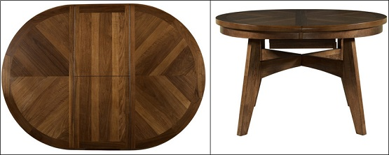 Attractive Round Dining Table With Leaves Walnut Round To Oval Dining Table With Butterfly Leaf Home Interiors