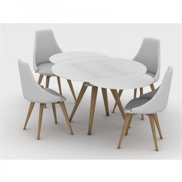 Attractive Round Extendable Dining Table Myles Circular Extending Dining Table