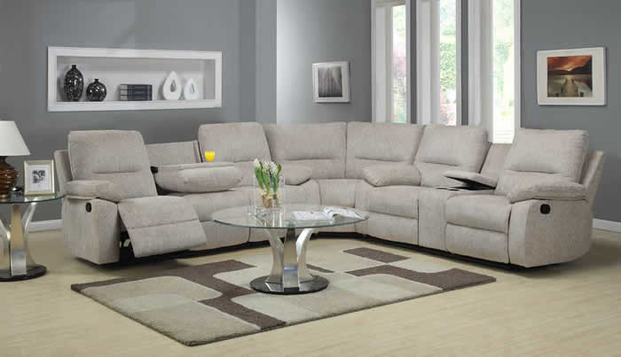 Attractive Sectional Couch With Recliner Sectional Sofa Recliner Sofas
