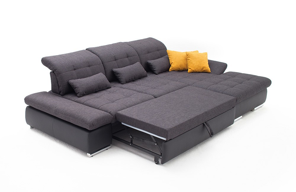 Attractive Sectional Sleeper Sofa With Chaise Alpine Sectional Sleeper Sofa Right Arm Chaise Facing Dark Grey
