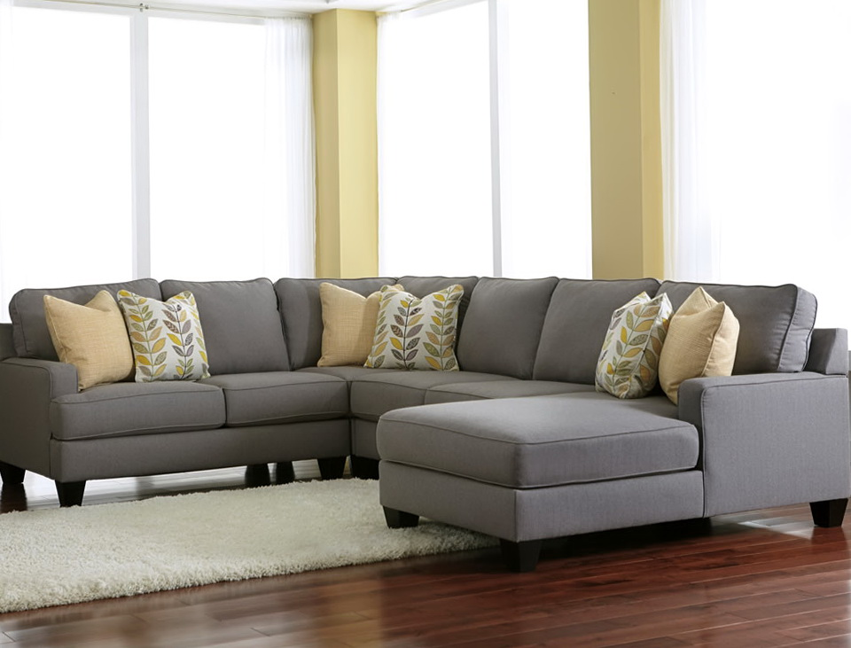 Attractive Sectional Sofa With Chaise Lounge Endearing Grey Sectional Sofas With Sofa Beds Design Chic