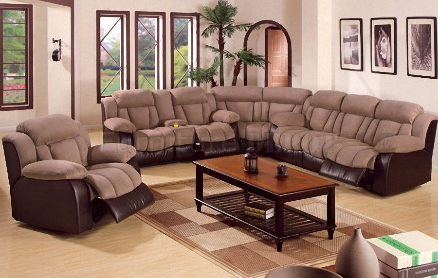 Stunning Sectional Sofas With Recliners Recliner Sectional Sofa L ...
