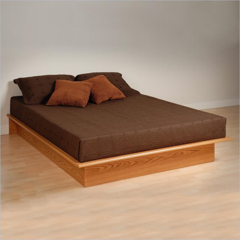 Attractive Simple Queen Size Bed Frame Queen Size Bed Platform Type Choosing Ideal Queen Size Bed