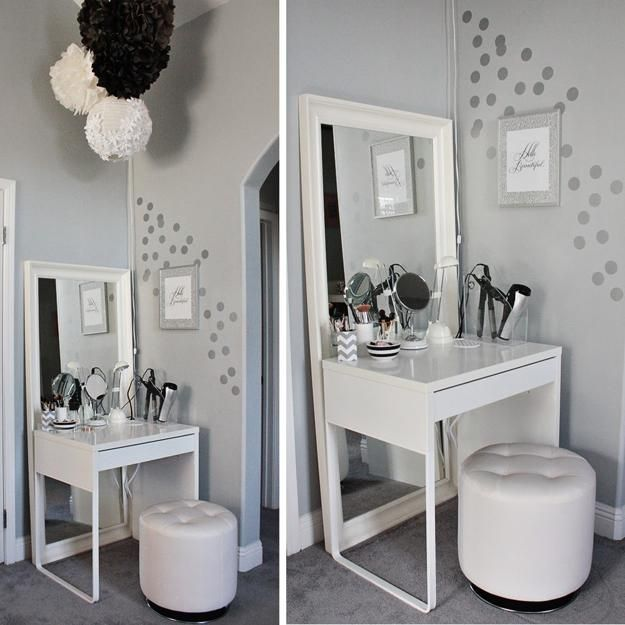 Attractive Small White Makeup Table Best 25 Small Vanity Table Ideas On Pinterest Small Dressing