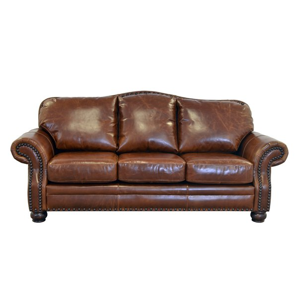 Attractive Top Grain Leather Sofa Westland And Birch Parker Genuine Top Grain Leather Sofa Reviews