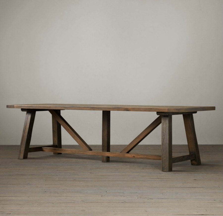 Attractive Trestle Dining Table How To Make Trestle Dining Table Home Design Ideas