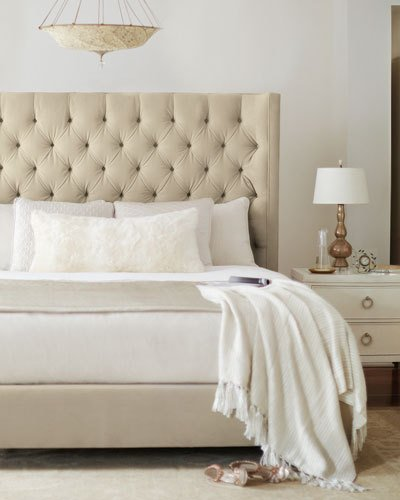 Attractive Tufted Cal King Bed Frame Tufted Headboard Bed Neiman Marcus