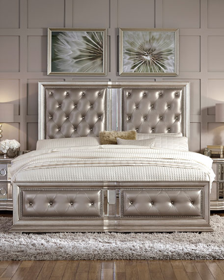 Attractive Tufted Cal King Bed Frame Vivian Tufted California King Bed